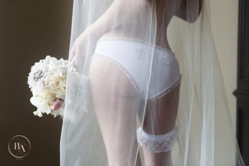 Bridal Boudoir, Bouquet, Bride Panties