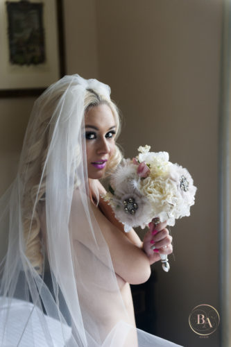 Bride Boudoir, Topless with Veil